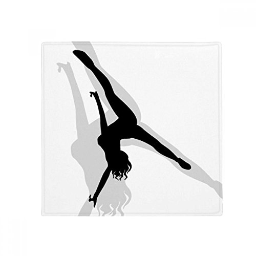 Hot Woman Handstand Dance Anti-slip Floor Pet Mat Square Home Kitchen Door 80cm Gift by DIYthinker