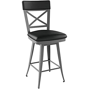 Amazon Com Amisco Windsor Swivel Metal Barstool With