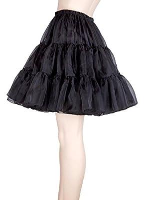 "MisShow Women's 50s Vintage Rockabilly Petticoat Short Tutu Skirt 18"" Length"
