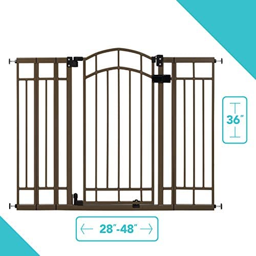 2 Colors Summer Infant Multi-Use Deco Extra Tall Walk-Thru Gate