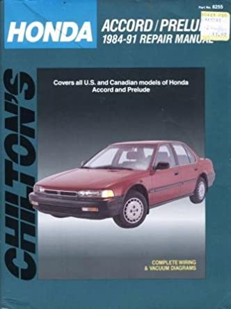 chilton s honda accord prelude 1984 91 repair manual chilton s rh amazon com 1994 honda prelude service manual 1994 Honda Prelude