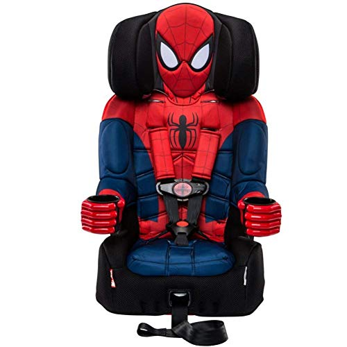 KidsEmbrace 2-in-1 Harness Booster Car Seat, Marvel Spider-Man (Ninja Turtle Toilet Cover)