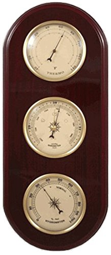- Ambient Weather WS-YG313-Y Cherry Finish Brass Bezel Traditional Weather Station