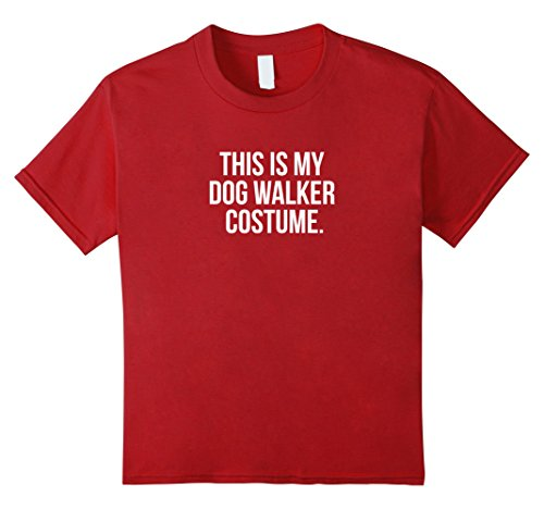 Kids Walker Costume (Kids This is my Dog Walker Costume funny Halloween tee shirt 12 Cranberry)