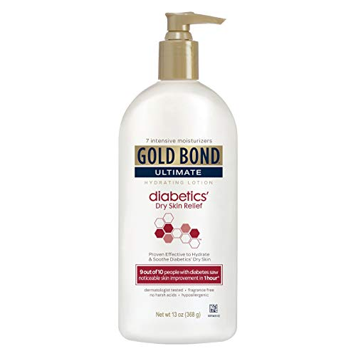 Gold Bond Ultimate Diabetics' Dry Skin Relief Hydrating Lotion - 13 oz, Pack of 5 (Best Lotion For Diabetic Dry Skin)