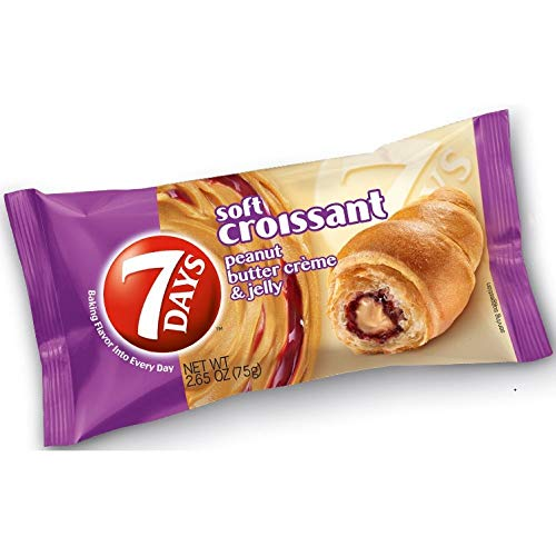 7 Days Peanut Butter and Jelly Croissant, 2.65 Ounce -- 24 per case.