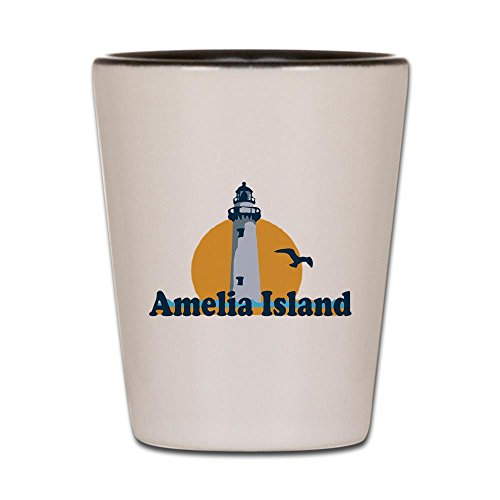 - CafePress - Amelia Island - Lighthouse Design. - Shot Glass, Unique and Funny Shot Glass