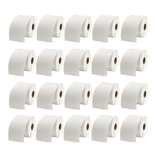 MFLABEL 20 Rolls Dymo 1744907 Compatible Shipping Labels for LabelWriter - Roll Paper Feeder