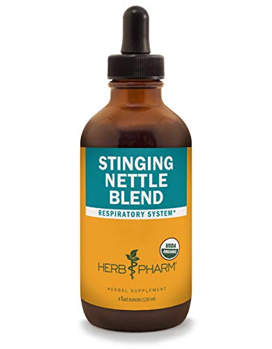 Herb Pharm Certified Organic Stinging Nettle Blend Liquid Extract, Organic Cane Alcohol, 4 Ounce