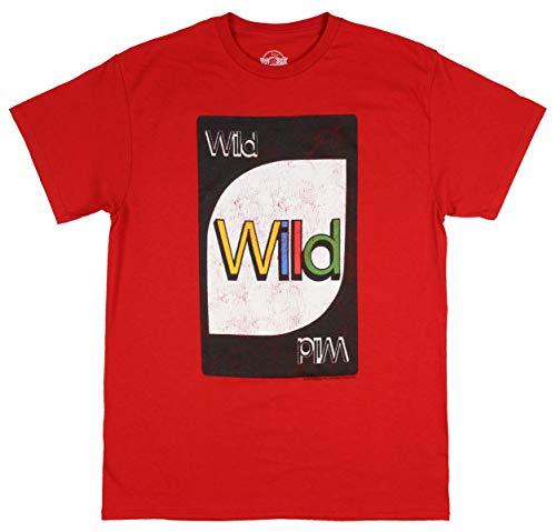 Mattel Uno Action Card Game Wild Card Men's T-Shirt (Medium) Red