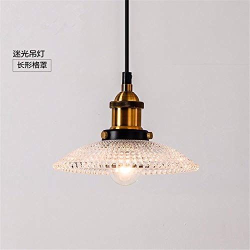 Beakjiful E27 suspension lustre Européen Pays Rétro Restaurant Chambre Café Bar En Verre Ondulé lumière pendentife Simple Tête