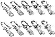 Stainless Steel Bow Shackles for Paracord U Shape Bracelets Adjustable D Buckle Umbrella Rope Bracelet Buckle