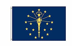 Indiana State bandera Banner 3pies x 5pies Poliéster impresa con ojales