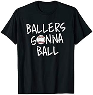Funny Boys Baseball Ballers Gonna Ball  Cool Gift T-shirt | Size S - 5XL