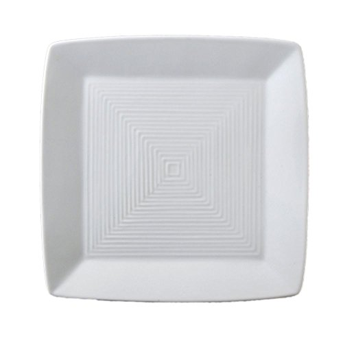 Plate Square Porcelain Undecorated - Vertex China ARG-S6 Signature Square Plate (Embossed), 6