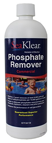 SeaKlear 90207 Halo Source 1040105 Commercial Strength Phosphate Remover Quart Bottle Spa Accessories