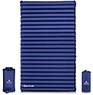 Hikenture Double Camping Pad Inflatable Air Mattress with Pump Bag - for Backpacking, Self-Driving Tour, Hikin