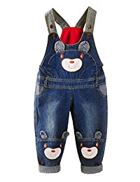 Cresay Baby Girls Boys Casual Soft Denim Overalls Rompers
