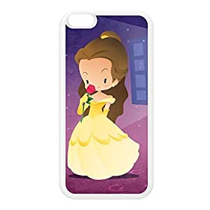Princesses - Belle White Silicon Rubber Case for iPhone 6 Plus by DevilleArt + FREE Crystal Clear Screen Protector