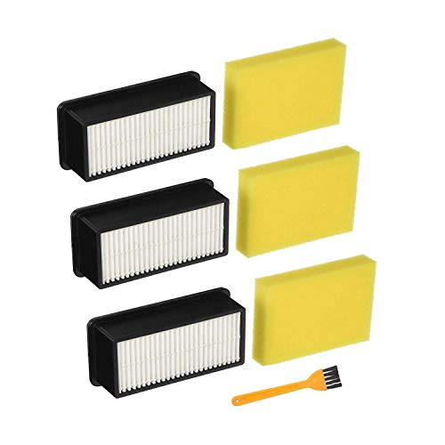 Mochenli Replacement Filters for Bissell 1008 CleanView Vacuums,3 Pack HEPA Filters + 3 Pack Post-Motor Filters, Compare to Part # 2032663 & 1601502 ()