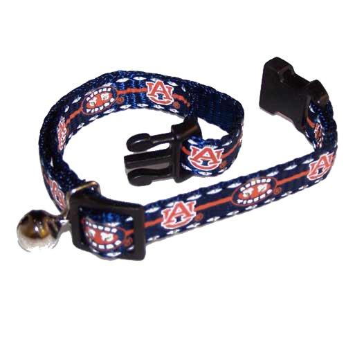 Pet Goods Collegiate 3/8-Inch Cat Safety Collar, Auburn University