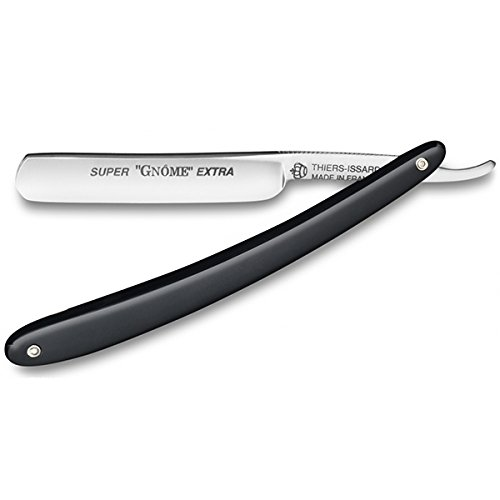 Super Gnome - Black 3/8 straight razor by Thiers Issard by Thiers Issard