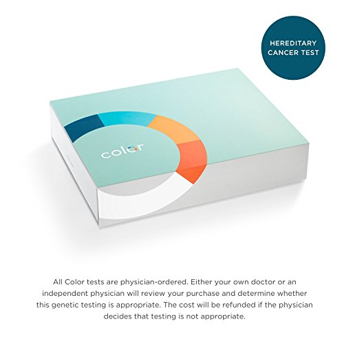 Color - Hereditary Cancer Test - Genetic Test for Hereditary Cancer Risk, Including Breast, Ovarian, Colon, Prostate, and 4 Other Cancers - Analysis of 30 Genes, Including BRCA1 and BRCA2 by Color Genomics