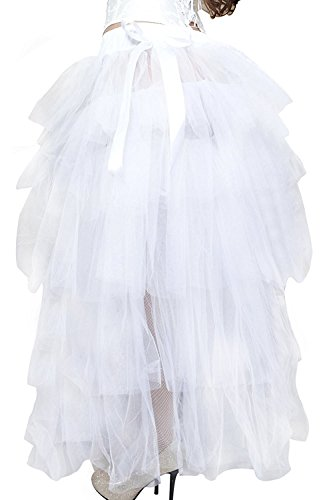 Lo Tutu wenxuan Dress Long White Hi Layered Party Tulle Women's Skirt Fancy OSEqwBE