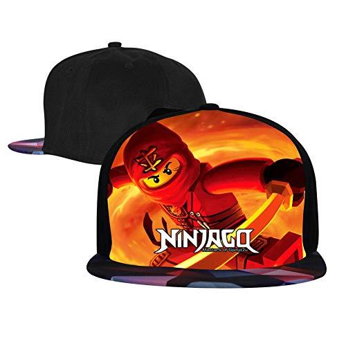Unisex Fire_Ninja_G0 Baseball Cap Hip Hop Snapback Adjustable Flat Bill Hat for Men Women Red -