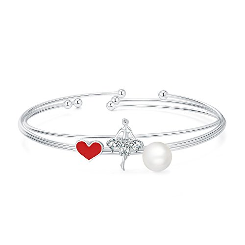 Ballet Dancing Girl Cuff Bracelet, Sweet Love Set of Three, Women Girl Jewelry Gift by Bagutta Pavone