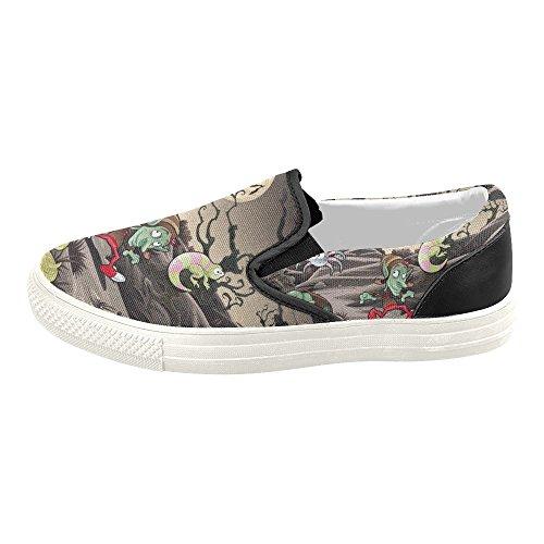 Halloween Story Slip Shoes On Sneaker Canvas D Mens Custom Happy Halloween2 Fashion Pumpkin dqxtRw