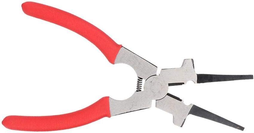 punta de corte Alicates de soldadura multifunci/ón de acero al carbono MIG con mango aislado para limpieza de boquilla
