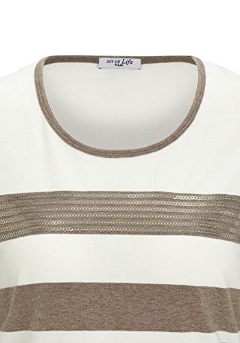 Hajo Rundhalsshirt, Camiseta de Manga Larga para Mujer taupemelange