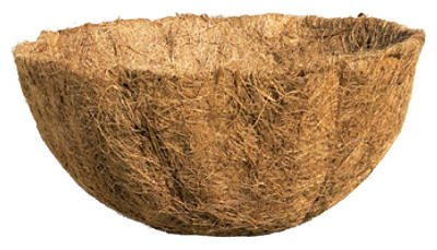 Border Concepts 72505 All Natural Preformed Coconut Liner Replacement for Hanging Basket, 16-Inch