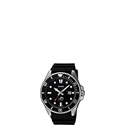 Casio Men's Black Analog Anti Reverse Bezel Watch by Casio