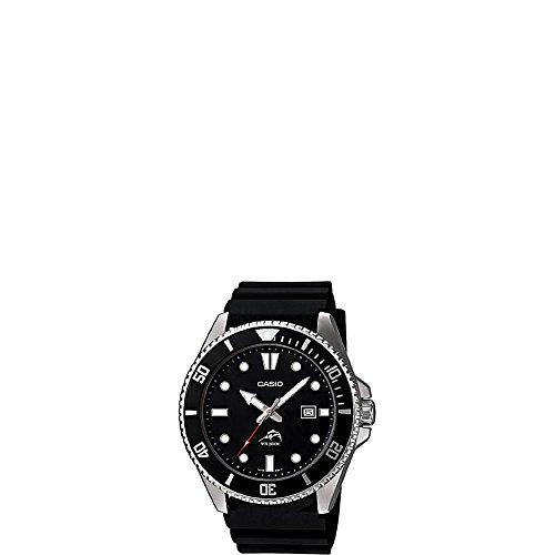 : Casio Men's Black Analog Anti Reverse Bezel Watch