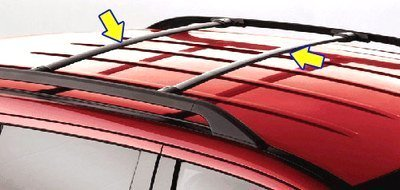 Oem Factory Stock Genuine 2005 2006 2007 Ford Explorer Middle Roof Cross Bars Luggage Rack Kit - Ford Explorer Roof