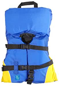 MW Infant Heads Up Life Jacket Vest PFD - Yellow/Blue