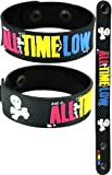 All Time Low New Bracelet Wristband Aa133 Color Font Don'T Panic