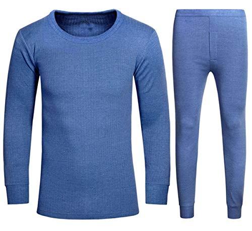 Thermiques Manches Blue shirt amp; À Bas vêtements En Eesa Adam Full Pantalons Set Longs Johns T Sous De Longues qHw6SCxA
