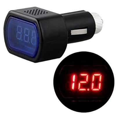LCD Cigarette Lighter Voltage Digital Panel Meter Volt Voltmeter Monitor for Auto Car Truck: Automotive