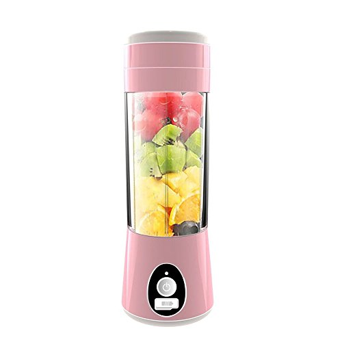 LDFN Juicer Mini Juice Cup Rechargeable Portable Juice Machine Automatic Student Children's Fruit Cup Electric 6-blade,Pink