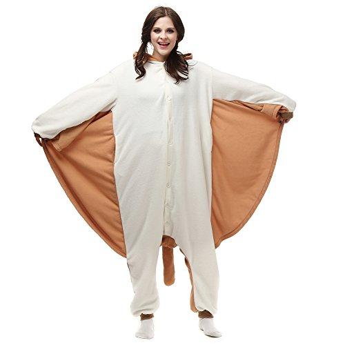 Flying Squirrel Onesie Adult Animal Pajamas Cosplay Sleepwear Cartoon Outfit Halloween -