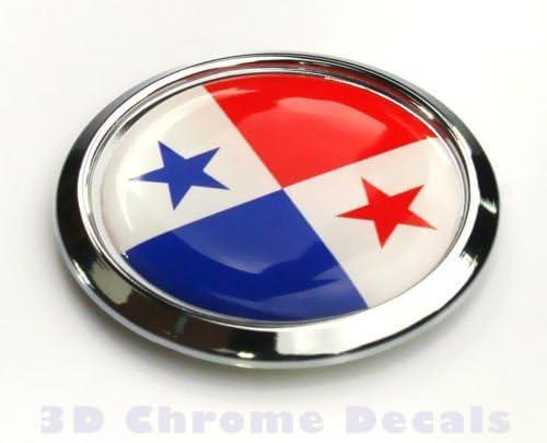 Panama Flag Square Chrome rim Emblem Car 3D Decal Badge Hood Bumper sticker 2