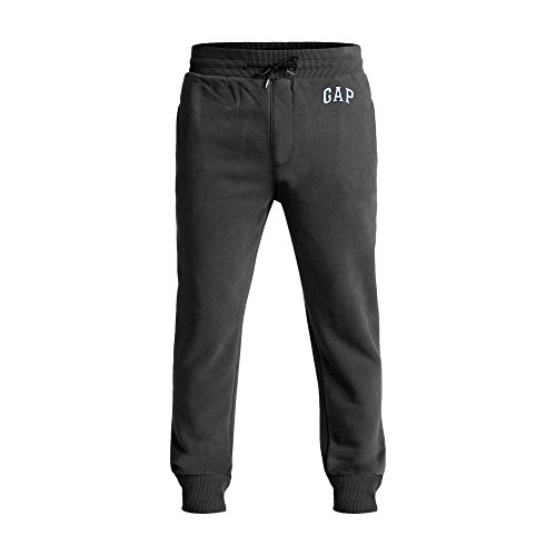 GAP Men's Fleece Logo Sweatpants (Dark Grey, Large)