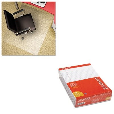 KITDEFCM11242PCUNV20630 - Value Kit - Deflect-o Polycarbonate Chair Mat (DEFCM11242PC) and Universal Perforated Edge Writing Pad (UNV20630) by Deflect-O