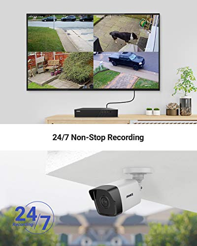 ANNKE H500 8CH Bullet PoE Home Security Camera System with 6MP H.265+ ONVIF NVR, 4X 5MP Outdoor CCTV IP Camera,100ft EXIR 2.0 Colour Night Vision, IP67 Weatherproof, Easy Remote Access, 2TB HDD