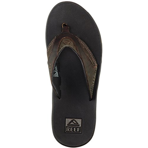 Reef Herren Leather Fanning Zehentrenner Braun (Brown Bro)