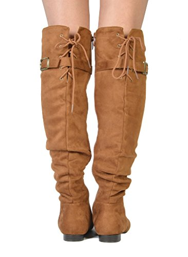 Slouchy Tan Fashion Over The Knee Casual Women's PAIRS Pull On DREAM Boots 1z4wqfnx6P