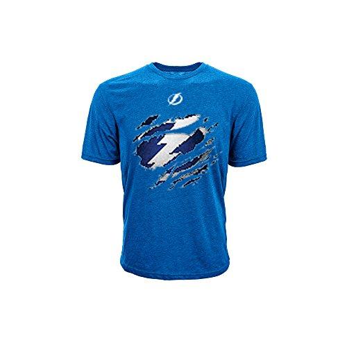 [NHL Tampa Bay Lightning Youth Ripped Youth Tee, Medium, Royal Blue] (Lightning Full Zip Hoodie)